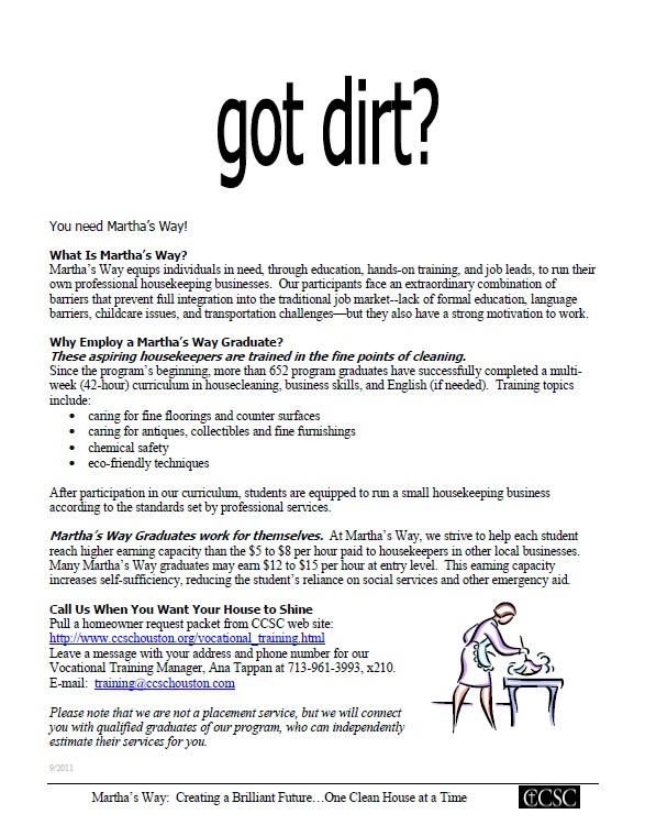marthas way housekeeping program graduates