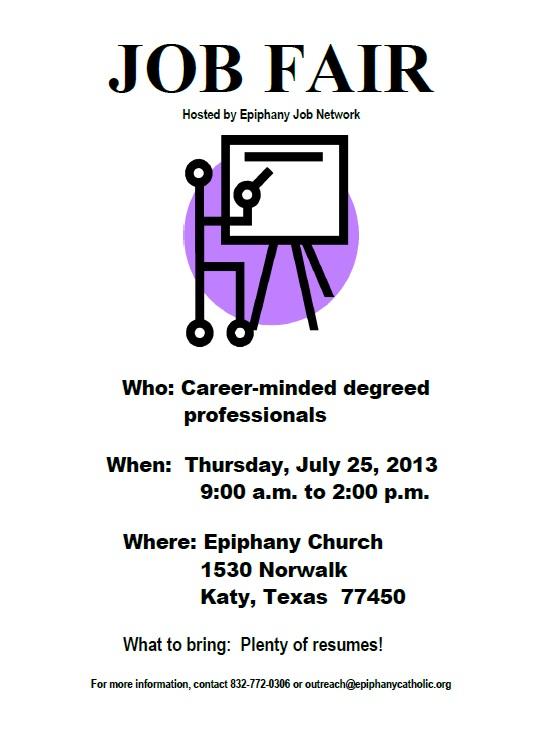 Event - Epiphany Job Network Job Fair